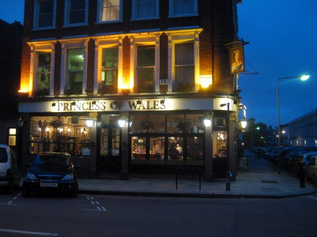 The Princess of Wales, perhaps the best pub in Primrose Hill.