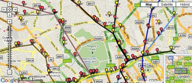 Tube Trains Mapped In Real Time