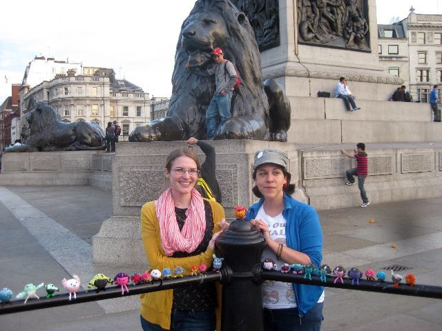 Creator Anna Hrachovec and Stitch London organiser Lauren O'Farrell.
