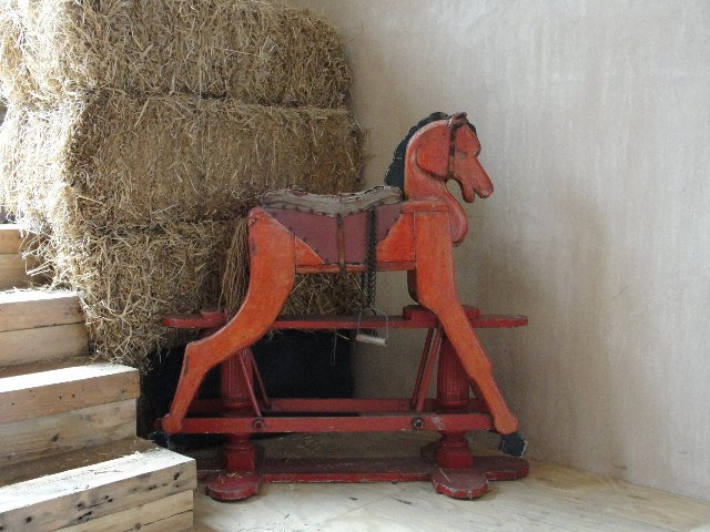 This rocking horse will be part of a new installation soon...
