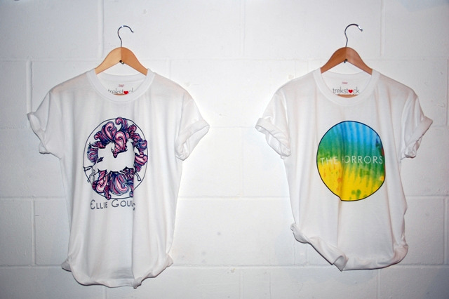 T-shirts by Ellie Goulding (left) and The Horrors (right)
