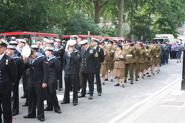 Members of the armed forces waiting for the start of the parade - Image zefrog