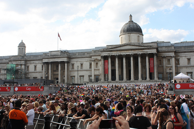 Trafalgar Square from the front of the main stage - Image zefrog