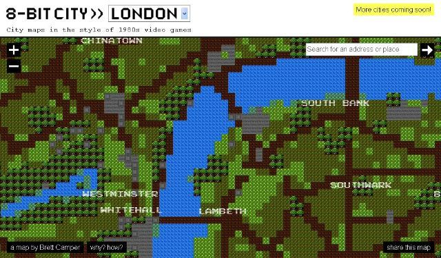 London Mapped As A 1980's Computer Game