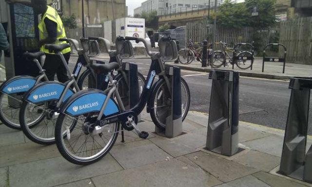 Bikes Installed For Cycle Hire Scheme