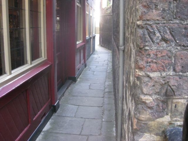 The narrow passage beside the Town of Ramsgate pub.