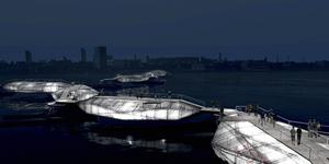 Student Designs Floating Thames Bridge