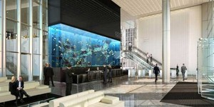 Aquarium Delivered To Heron Tower