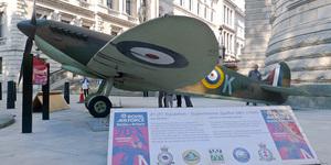 Replica Spitfire At The Churchill War Rooms