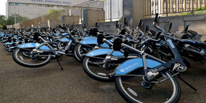 A Mess Of Boris Bikes Near Waterloo Station