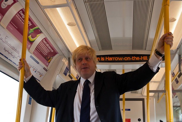 Boris mingles on-board with the public