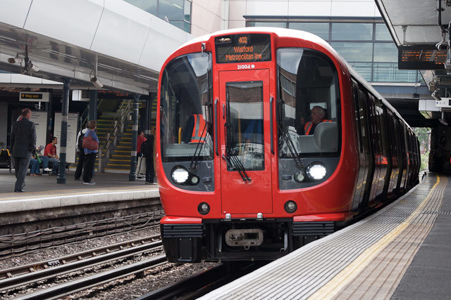 The first (official) train pulls into Wembley Park