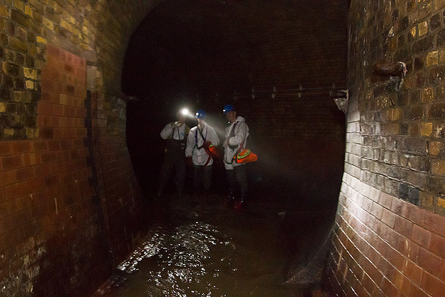 Beneath Holborn Viaduct, the river splits into two sections before meeting again near Ludgate Circus.