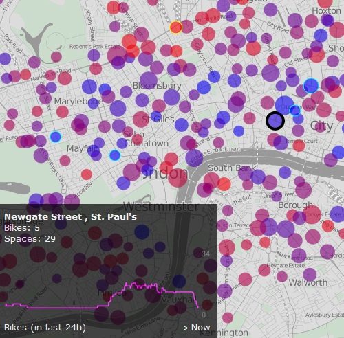 Visualisation Shows Cycle Hire Usage Patterns
