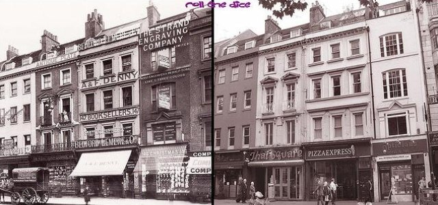 Shops on the Strand, 1907 and 2009