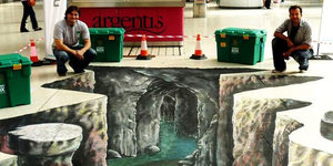 '3D Street Art' Today At Victoria Station