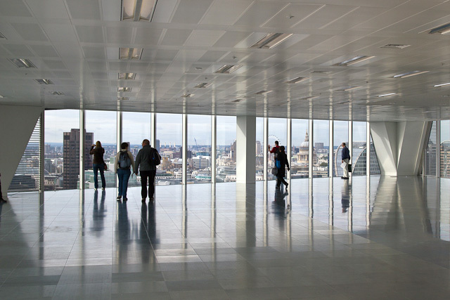 Interior of the 17th floor of the Broadgate Tower. Photo / DeanN