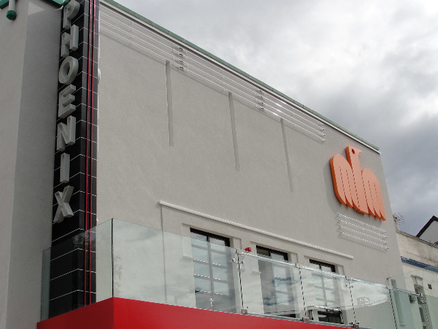 New signage and front at the Phoenix Cinema.