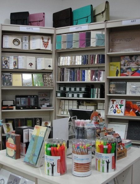 You can also pick up gifts and stationery