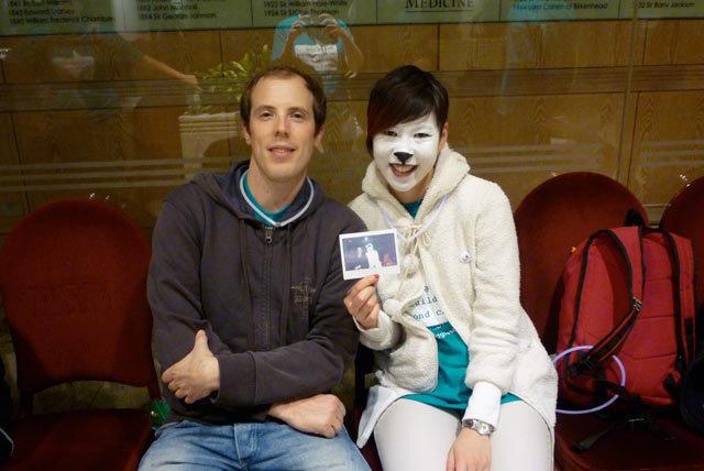Paul + Polar Bear + Polaroid at the Royal Society of Medicine By Lindsey