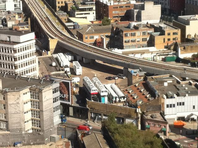 View of one Open House venue (Village Underground) from another (Broadgate Tower). Photo / M@