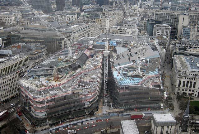 ...and a real photograph of the building under construction in March 2010. Photo / M@