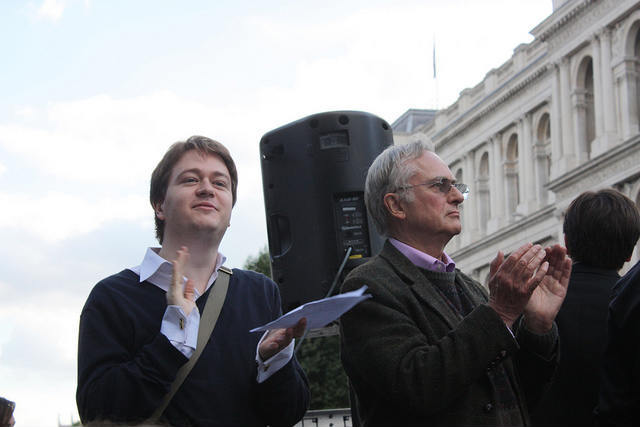 Johann Hari and Richard Dawkins. Photo / zefrog.