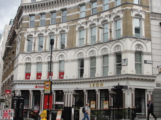"""...the sky had clouded over, and when they walked up the hill to the King Ludd pub, past the jeering Fleet Street lads with their Saturday pints, it was discovered that Archie had been given a parking ticket."" p.44, Ch 3 The King Ludd on Ludgate Circus is now a Leon and a Santander"