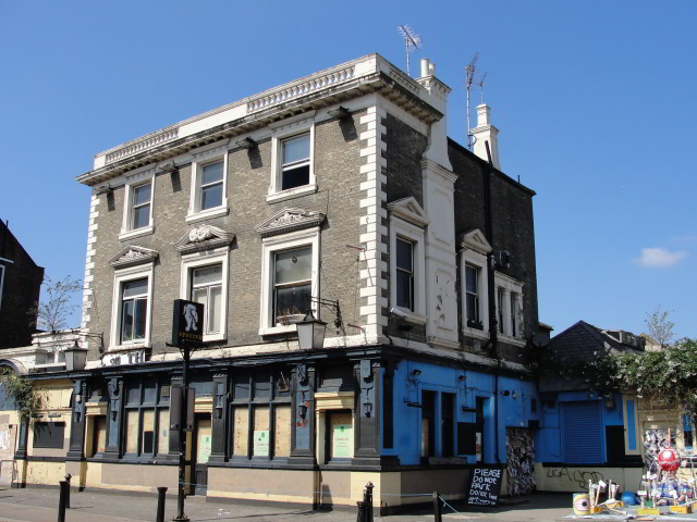"""They drank, as everybody in Willesden drank, in the aforementioned Spotted Dog, a famous Willesden landmark, described in 1792 as 'being a well accostomed Publick house'."" p.398, Ch 18 The Spotted Dog is no more, and is on the verge of being turned into flats"