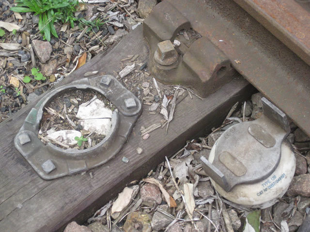 Pieces of old rail track.