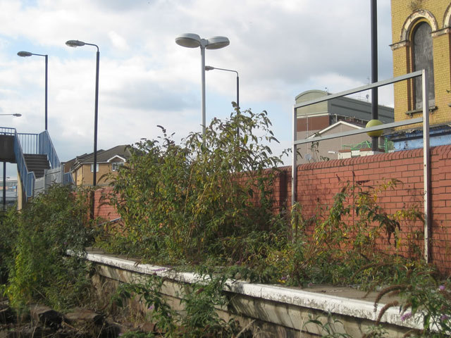 The disused Silvertown station; it was part of the Silverlink network until it closed in 2006.