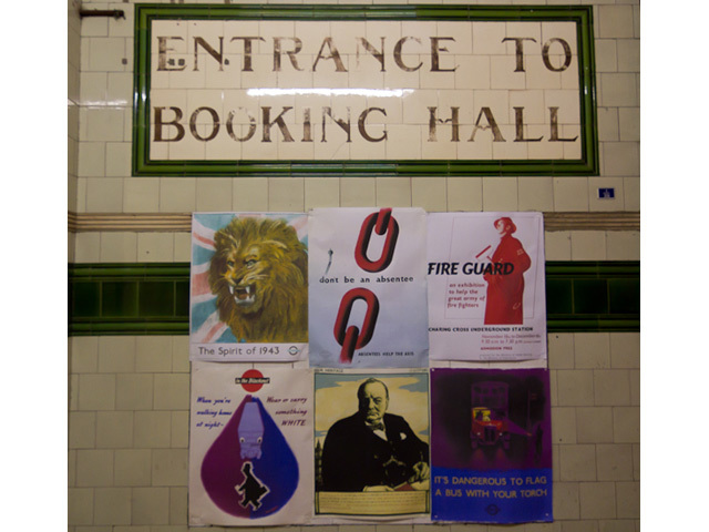 Posters at the entrranceway on The Strand.