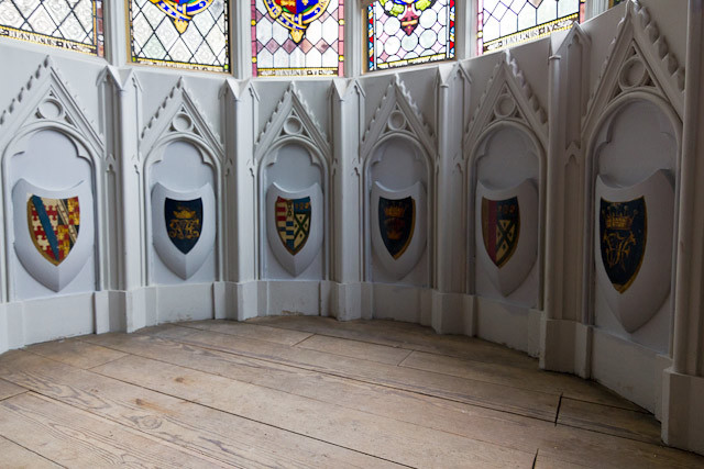 Crests in the Round Room.