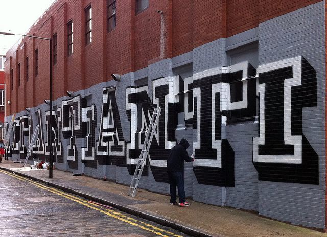 Eine's latest work, and possibly the man himself, on Ebor Street, September 2010. Image by M@.