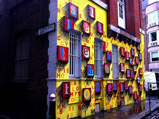 This mural on Middlesex Street is just a few weeks old. Image by M@.