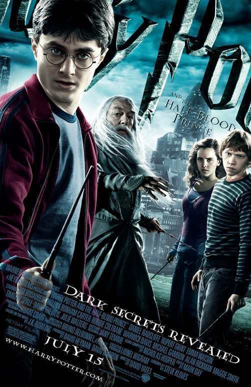 A poster for Harry Potter and the Half-Blood Prince features Foster's Gherkin in the background.