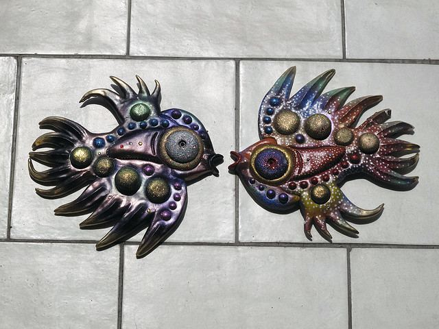 Two kissing fishes.
