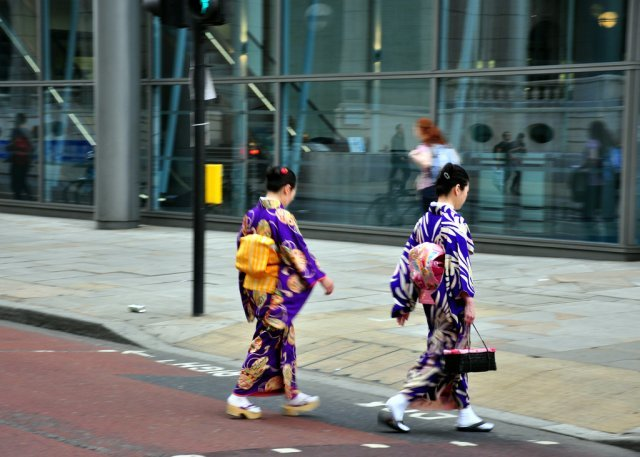 Geishas Crossing