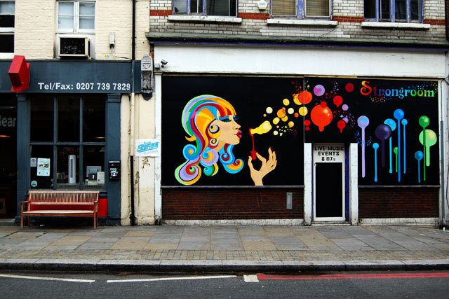 Shopfront - 'Shopfront Psychedelica', taken in Shoreditch, September 2009 Christina Owen
