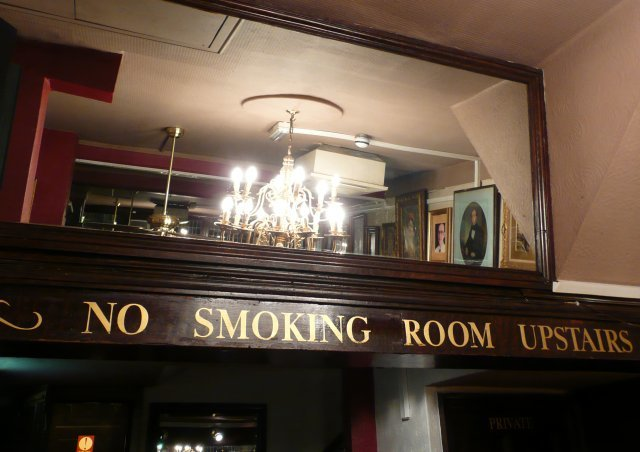 There might not be smoking upstairs, but there is a cosy little room. Picture by Dave