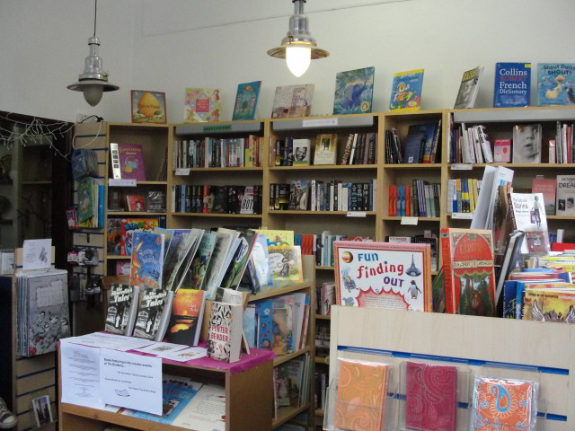 Inside the bookshop part