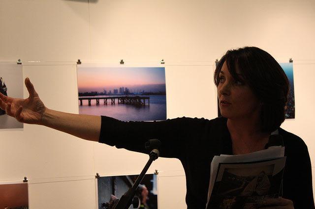 Paula Middlehurst of Sky News Doreen Joy Barber