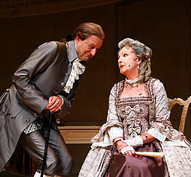 Peter Bowles and Penelope Keith star in The Rivals at Theatre Royal Haymarket. Photo by Nobby Clark