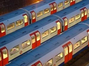 Tube trains.