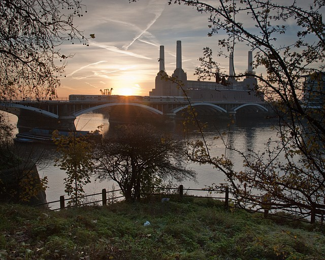 Sunrise over Battersea Power Station