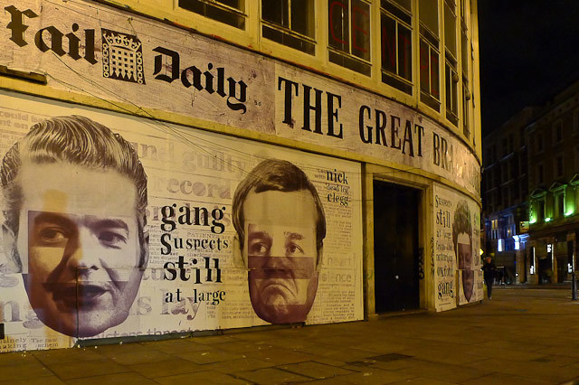 Huge New Anti-Government Mural In Shoreditch
