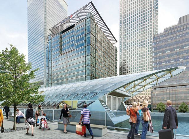 Canary Wharf station.