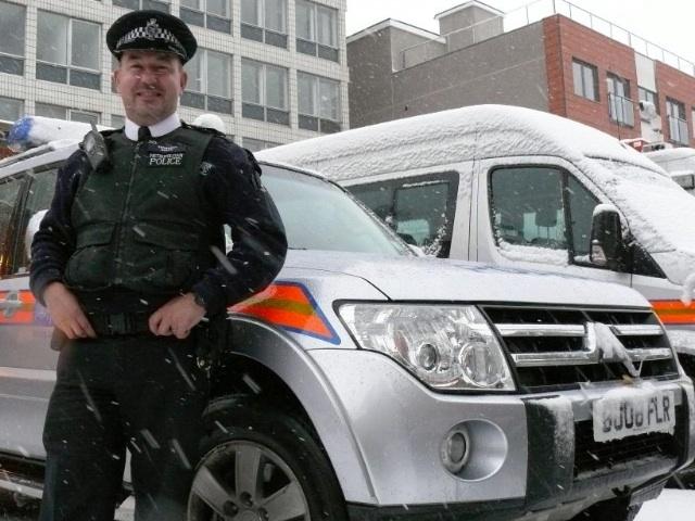 Sutton Cop In Mercy Dash Through Snow