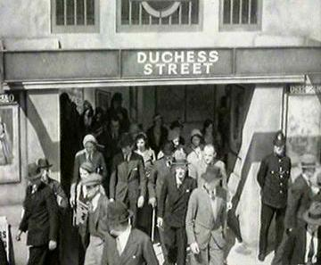 Duchess Street station. From the 1932 film Love On Wheels.