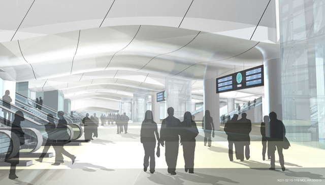 Artist's Impression Shows New London Bridge Station Concourse